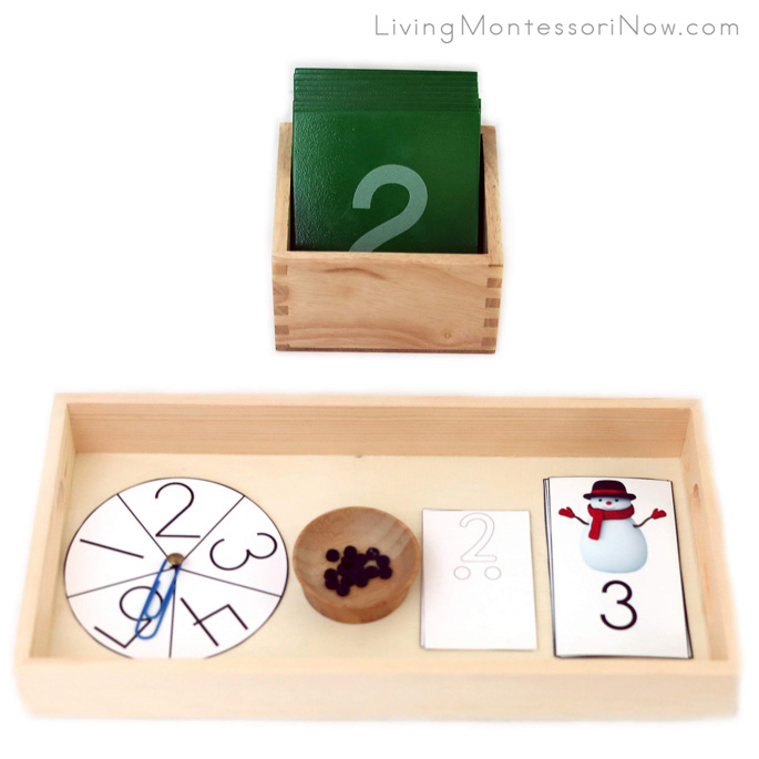 Number Matching and Put-the-Buttons-on-the-Snowman Activity
