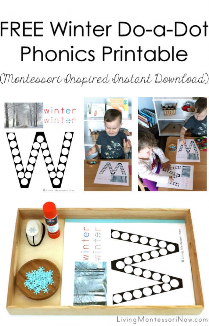 FREE Winter Do-a-Dot Phonics Printable (Montessori-Inspired Instant Download)
