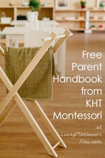Free Parent Handbook from KHT Montessori
