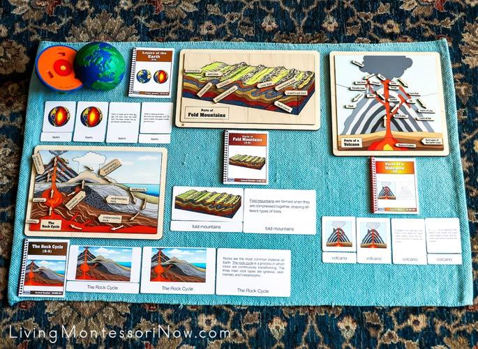Alison's Montessori Geology Materials