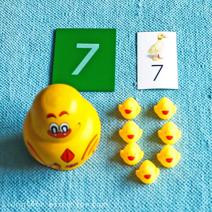 Duckling Counting and Number Matching Activity