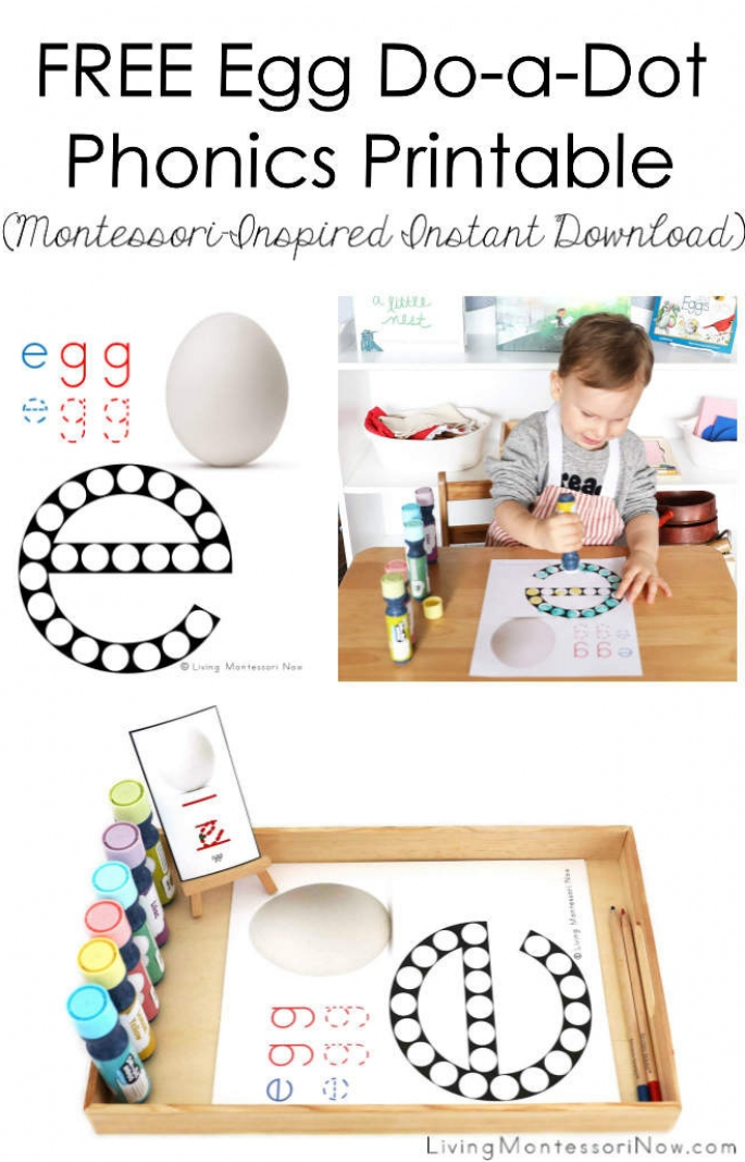 Free Egg Do-a-Dot Phonics Printable (Montessori-Inspired Instant Download)