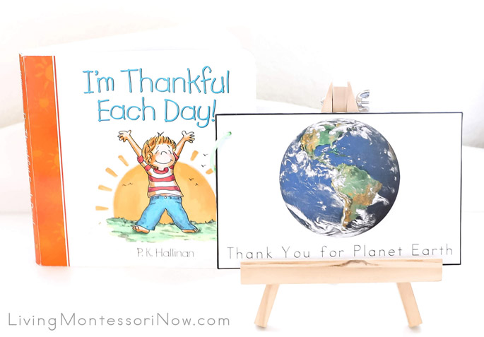 "I'm Thankful Each Day Book with ""Thank You for Planet Earth"" Booklet"