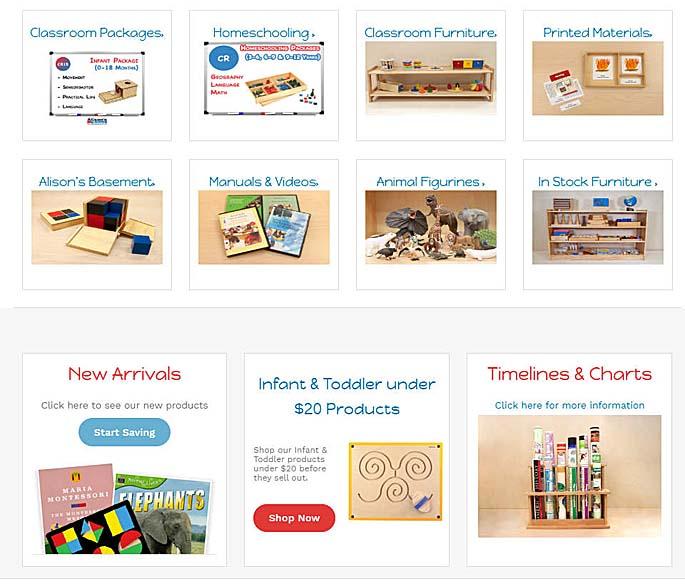 Part of Alison's Montessori Homepage