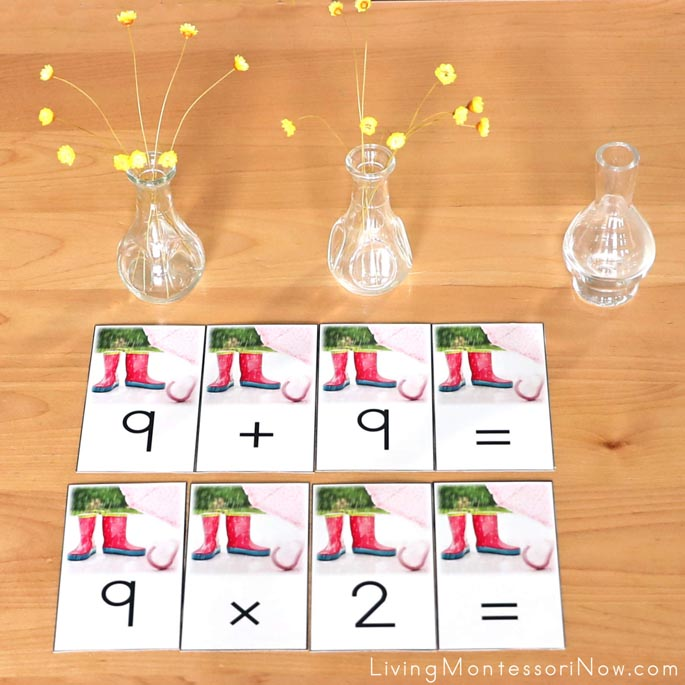 Working with April Showers Bring May Flowers Addition and Multiplication Equations