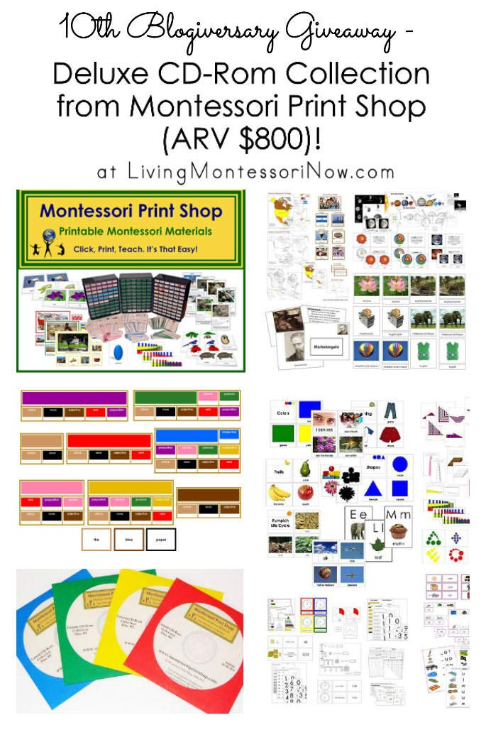 10th Blogiversary Giveaway - Montessori Print Shop Deluxe CD Rom Collection