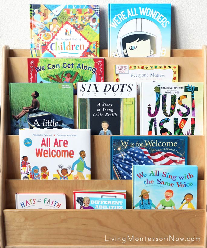 Book Display with Diversity and Inclusion Books for Kids