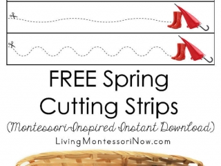 FREE Spring Cutting Strips (Montessori-Inspired Instant Download)