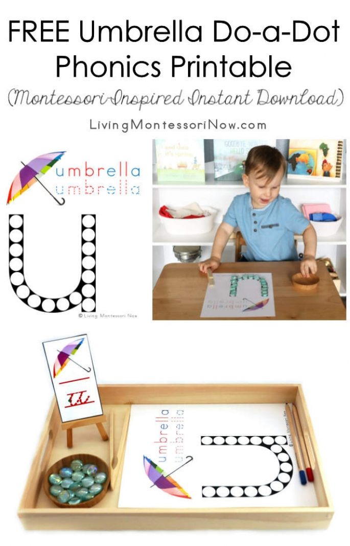 FREE Umbrella Do-a-Dot Phonics Printable (Montessori-Inspired Instant Download)