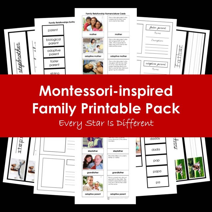 Montessori-Inspired Family Printable Pack from Every Star Is Different