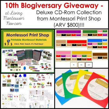 Worldwide Giveaway - Montessori Print Shop Deluxe CD-Rom Collection (ARV $800)!