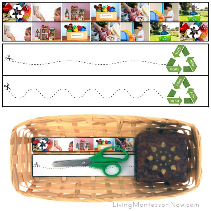 Reduce, Reuse, Recycle Cutting Strips with Basket