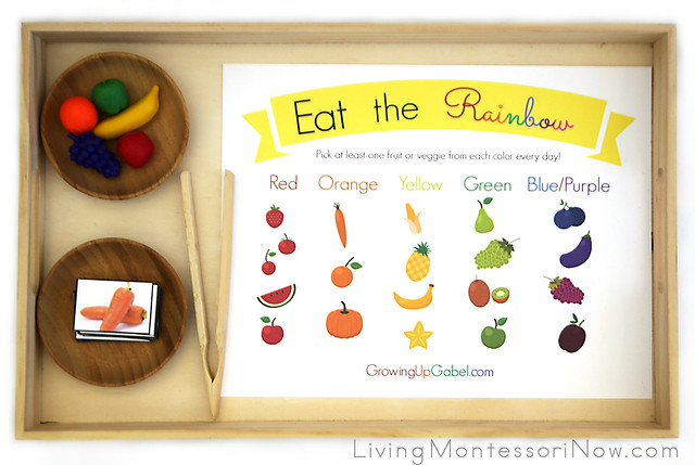 Eat the Rainbow Practical Life and Sorting Activity