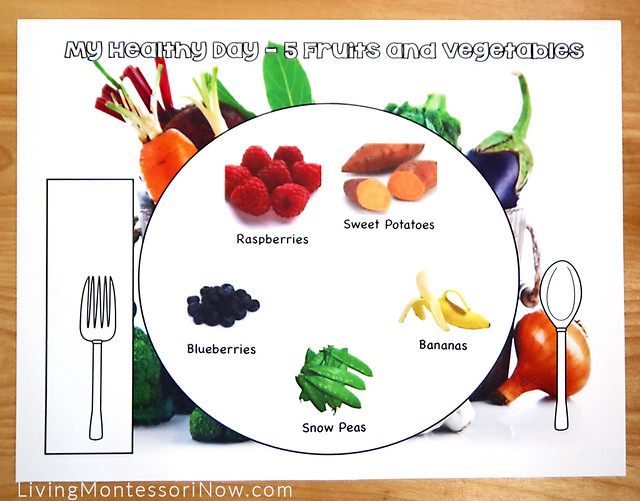 My Healthy Day - Eat-a-Rainbow Food Choices