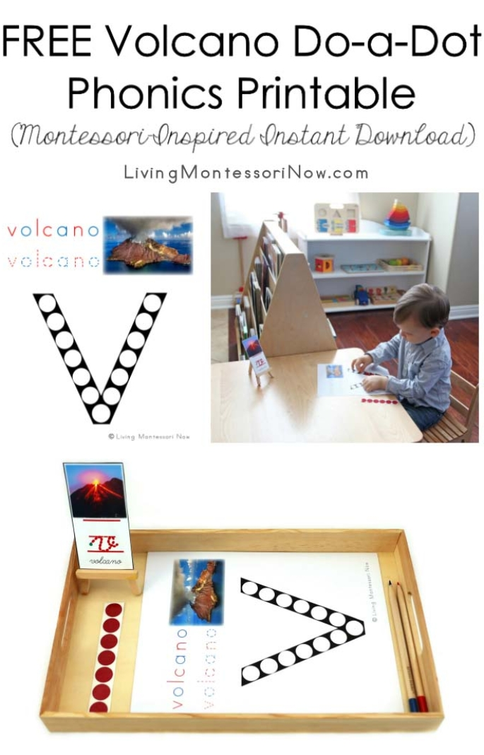 FREE Volcano Do-a-Dot Phonics Printable (Montessori-Inspired Instant Download)