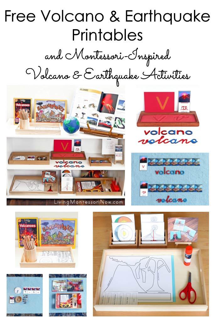 Free Volcano & Earthquake Printables and Montessori-Inspired Volcano & Earthquake Activities