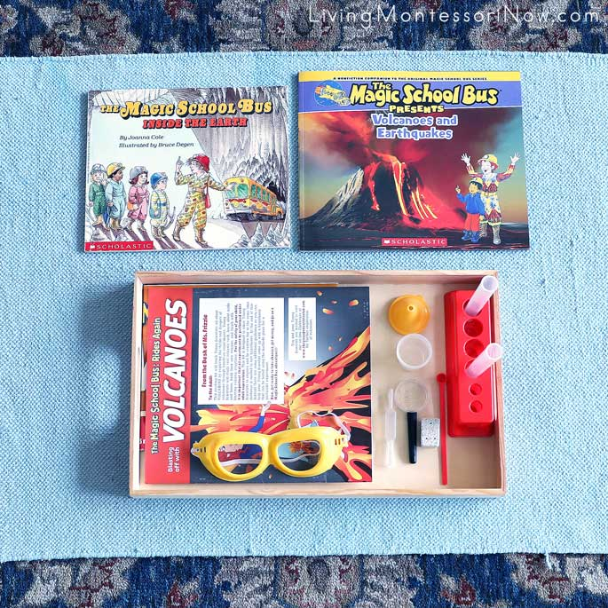 Magic School Bus Geology Books with Materials from the Magic School Bus Volcanoes Science Kit