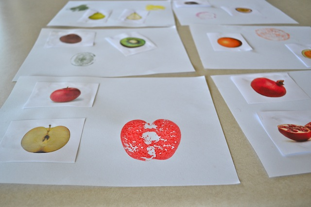 Inside Outside Fruit Art (Photo from How We Montessori)