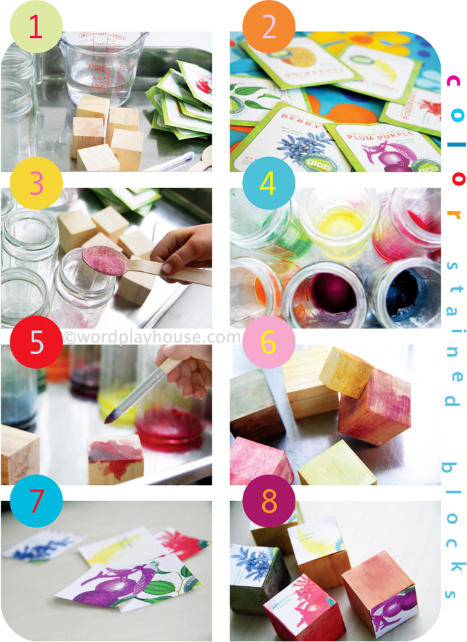 Watercolor Blocks with Fruit Colors (Photo from wordplayhouse)