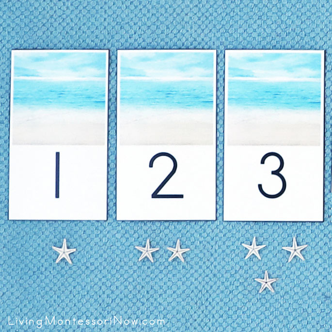 DIY Beach and Sea Star Cards and Counters 1-3