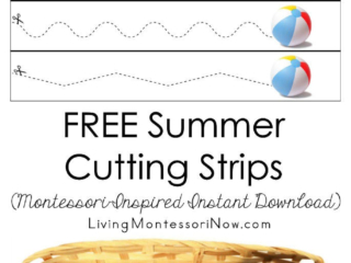 FREE Summer Cutting Strips (Montessori-Inspired Instant Download)