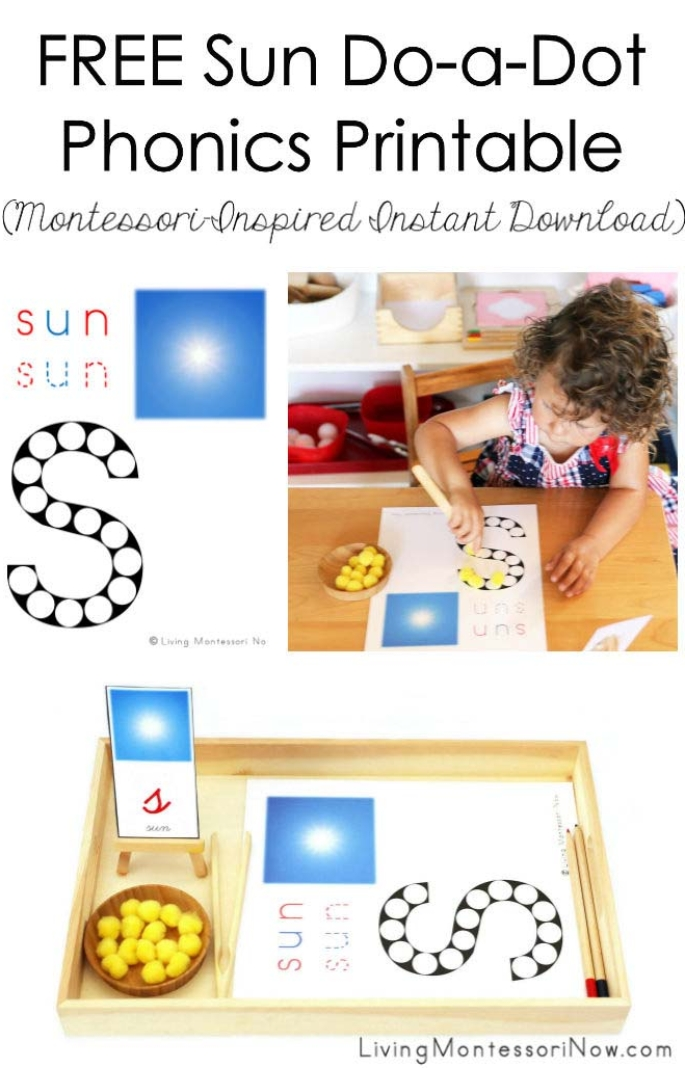 FREE Sun Do-a-Dot Phonics Printable (Montessori-Inspired Instant Download)