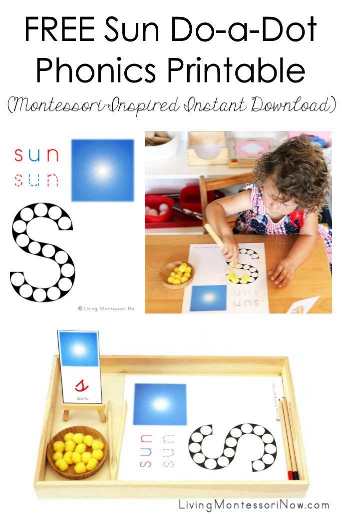 FREE Sun Do-a-Dot Phonics Printable (Montessori-Inspired Instant Download)
