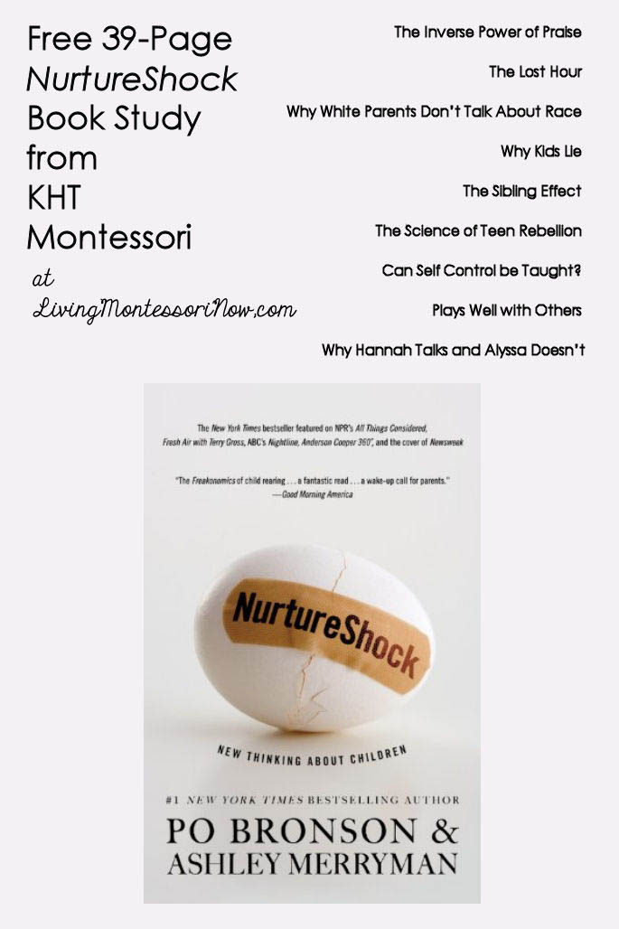 Free 39-Page NurtureShock Book Study from KHT Montessori