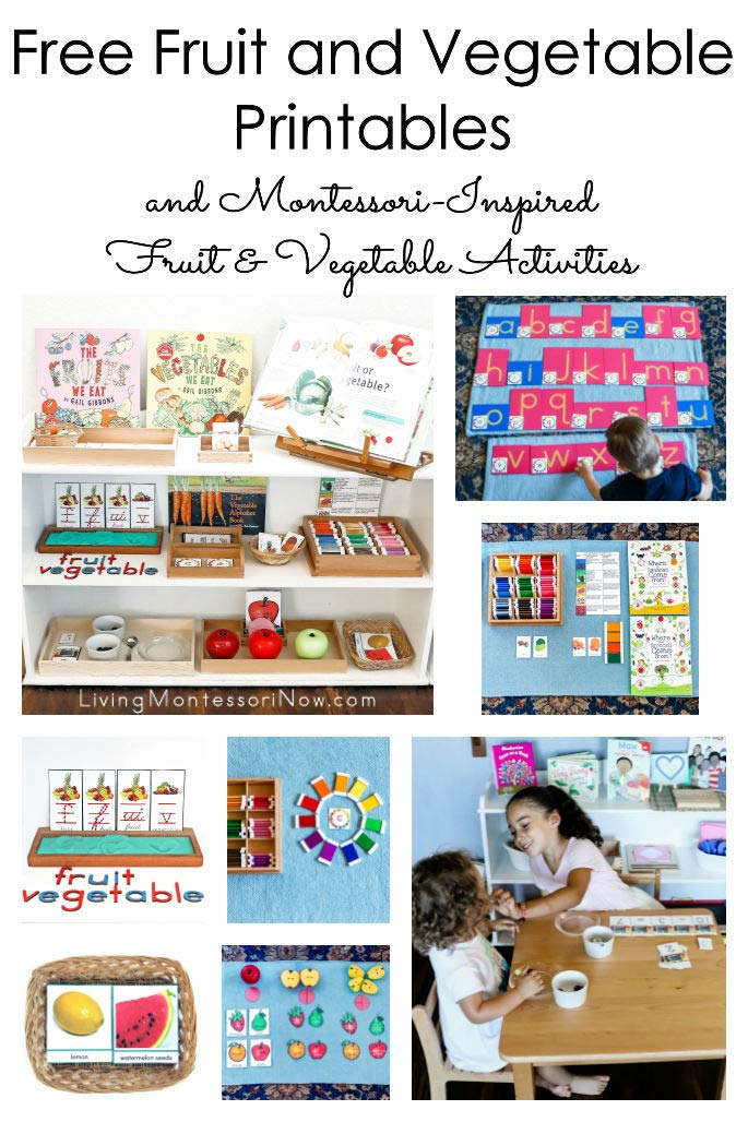 Free Fruit & Vegetable Printables and Montessori-Inspired Fruit & Vegetable Activities