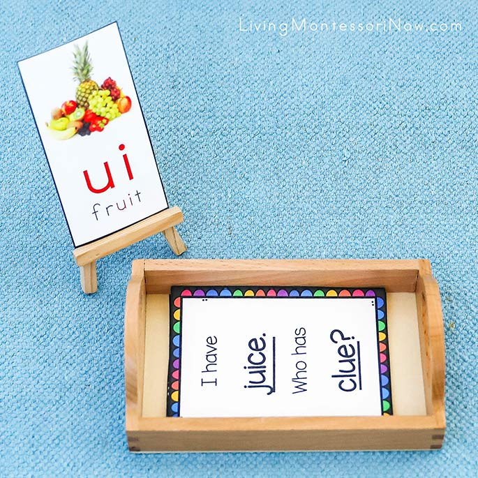 Fruit ui phonogram Card with I Have, Who Has Long U Game