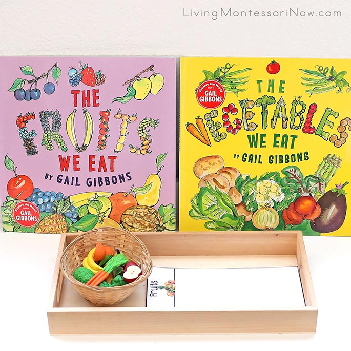 The Fruits We Eat and The Vegetables We Eat Books with Activity Sorting Safari Ltd Fruits and Vegetables
