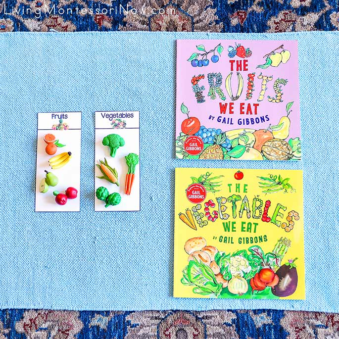 The Fruits We Eat and The Vegetables We Eat Books with Fruit and Vegetable Sorting Activity