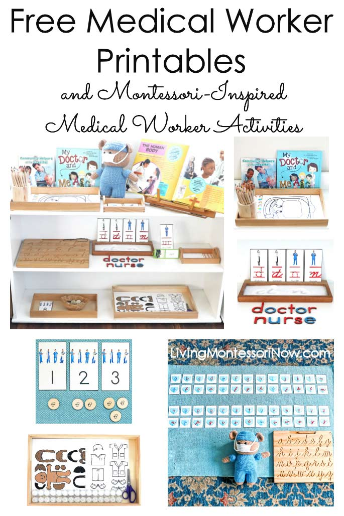 Free Medical Worker Printables and Montessori-Inspired Medical Worker Activities