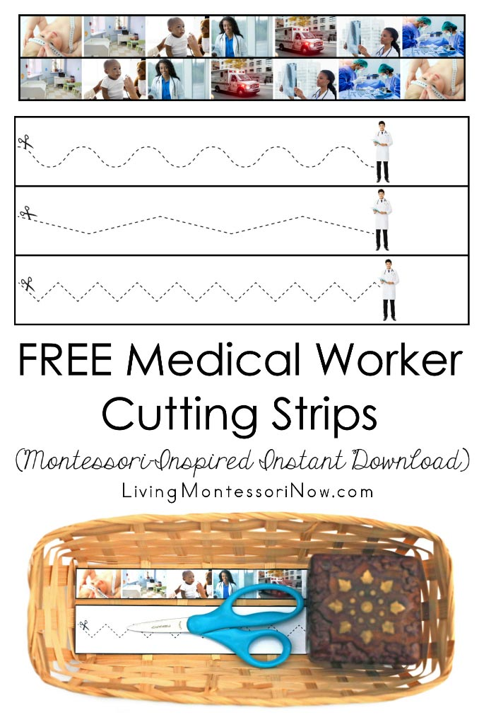 FREE Medical Worker Cutting Strips (Montessori-Inspired Instant Download)