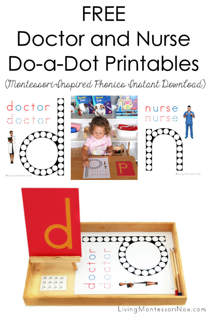 Free Doctor and Nurse Do-a-Dot Printable (Montessori-Inspired Instant Phonics Download)