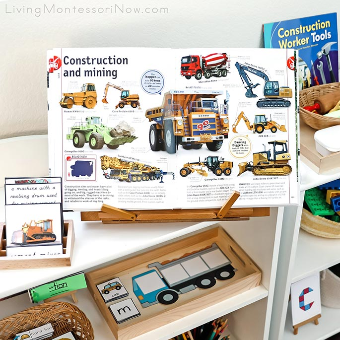 Cars, Trains, Ships & Planes Book with Construction Materials