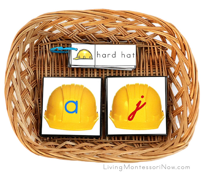 Construction Word Booklet with Hard Hat Letters in Manuscript and Cursive