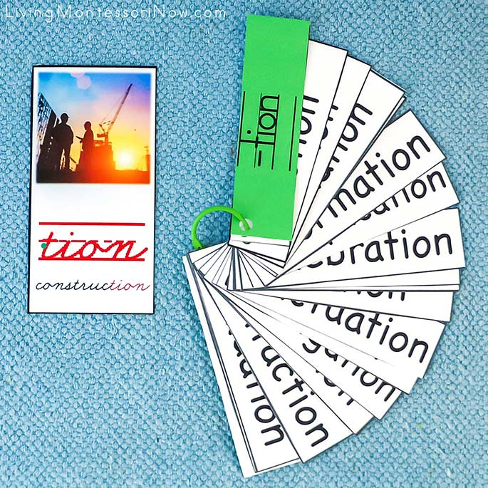 Construction -tion Phonogram Card with -tion Booklet