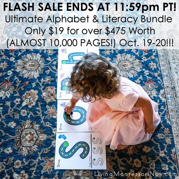 The Ultimate Alphabet and Literacy Bundle only $19 for $475 worth Flash Sale October 19-20!