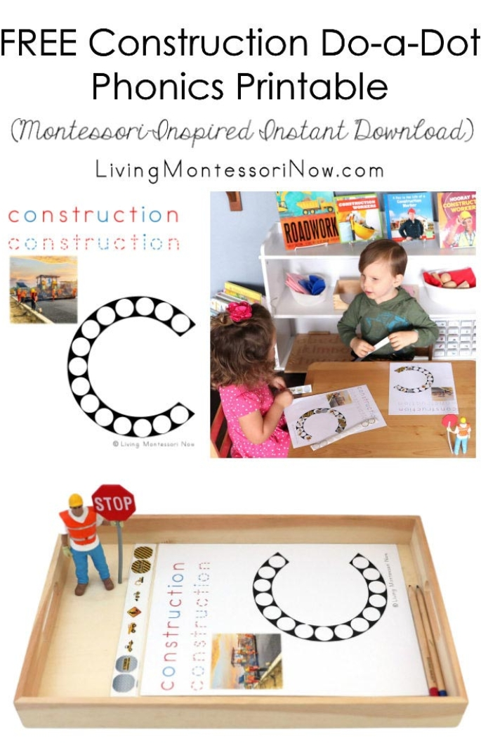 FREE Construction Do-a-Dot Phonics Printable (Montessori-Inspired Instant Download)