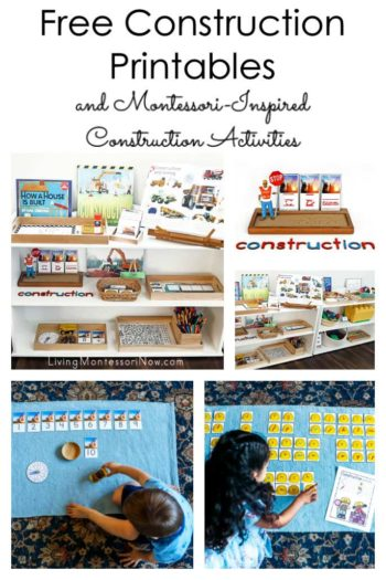 Free Construction Printables and Montessori-Inspired Construction Activities