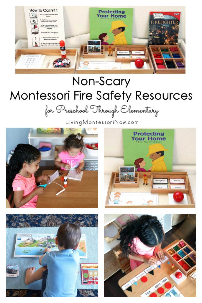 Non-Scary Montessori Fire Safety Resources for Preschool Through Elementary