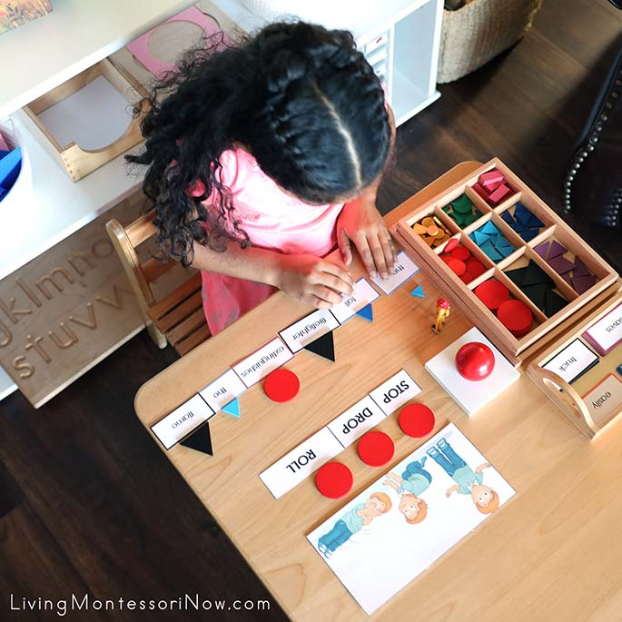 Using Fire Safety Printables with Montessori Grammar Materials