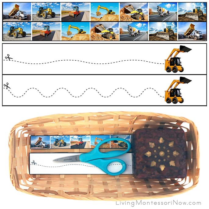 Construction Vehicle Cutting Strips with Basket
