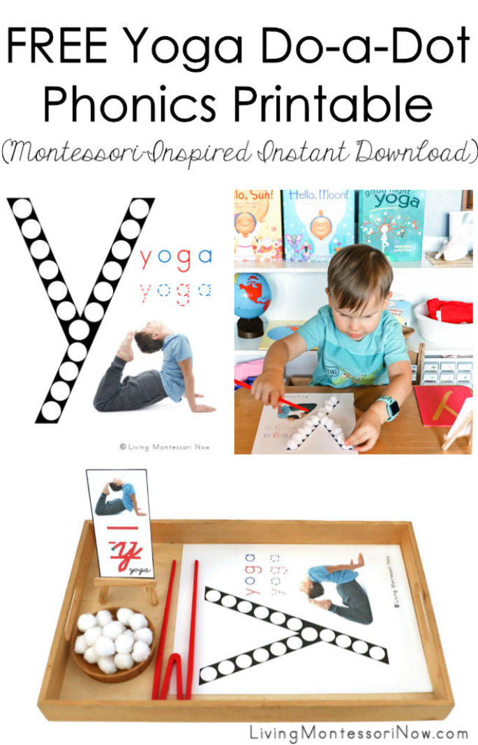 FREE Yoga Do-a-Dot Phonics Printable (Montessori-Inspired Instant Download)