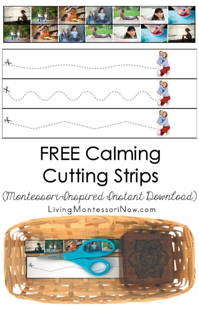 FREE Calming Cutting Strips (Montessori-Inspired Instant Download)
