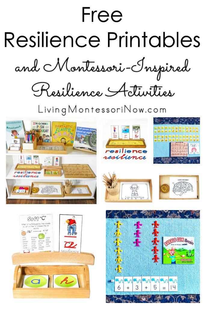 Free Resilience Printables and Montessori-Inspired Resilience Activities {Growth Mindset Unit}