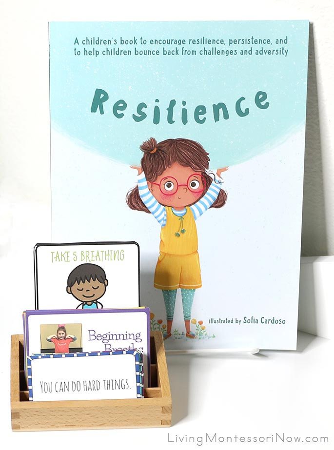 Resilience Book with Growth Mindset, Yoga, and Breathing Cards