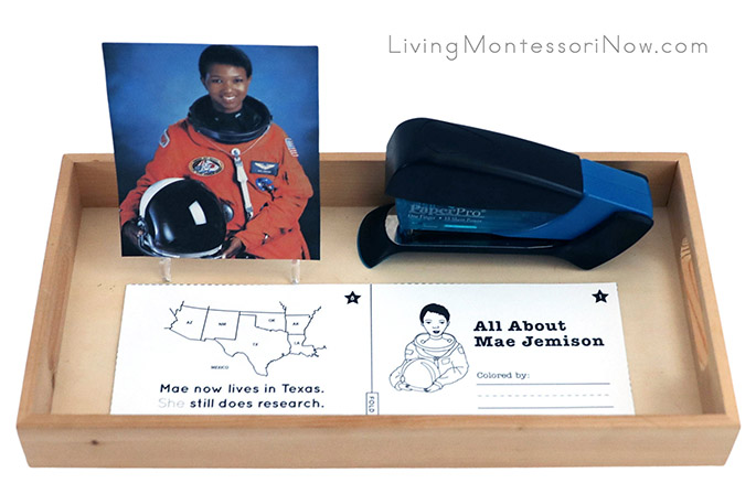 All About Mae Jemison Bookmaking Tray