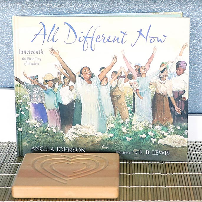 All Different Now: Juneteenth, the First Day of Freedom with Heart Mindful Breathing Board